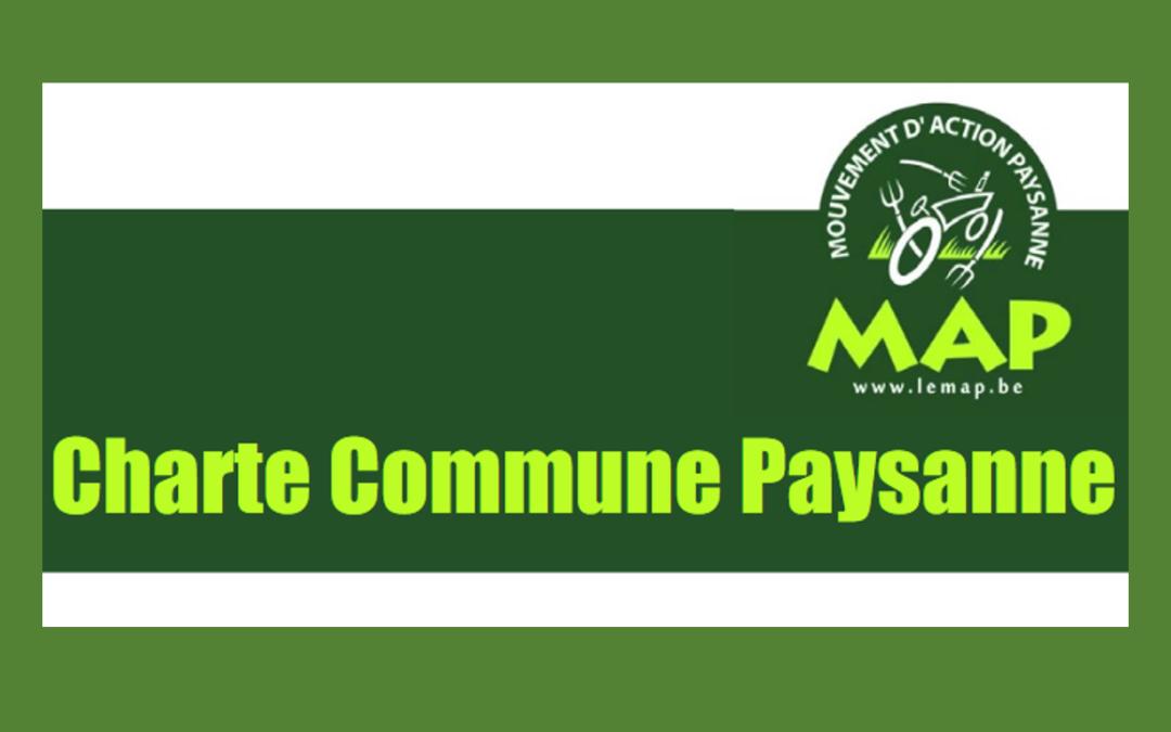 Nous soutenons la ratification d'Une Charte Commune Paysanne