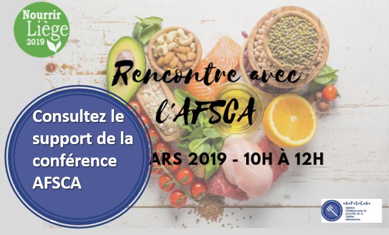 Présentation AFSCA pour Nourrir Liège 2019