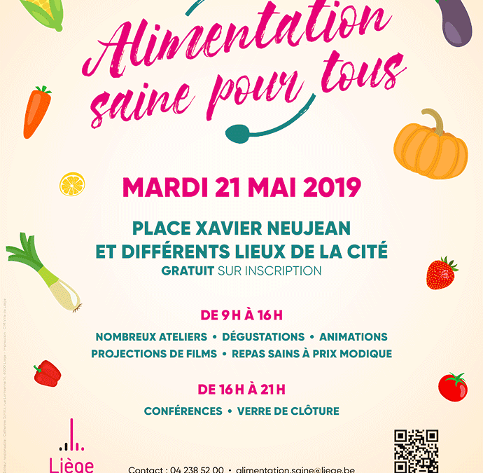 Journée Alimentation Saine Pour tous: participez!