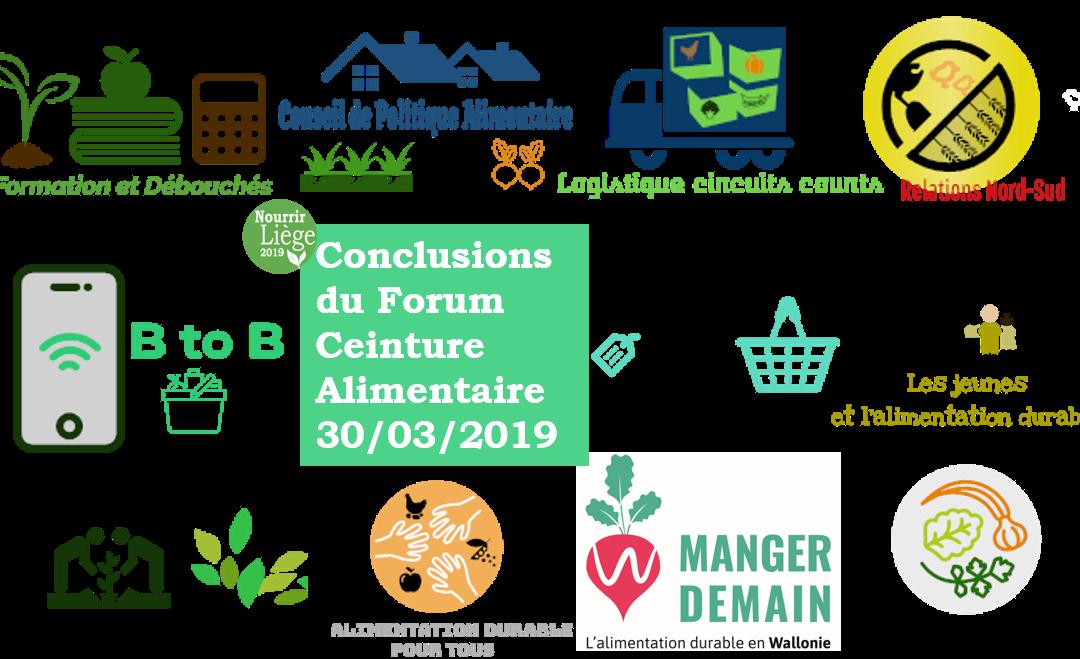 Conclusions du Forum Ceinture Aliment-Terre #Nourrir Liège 2019