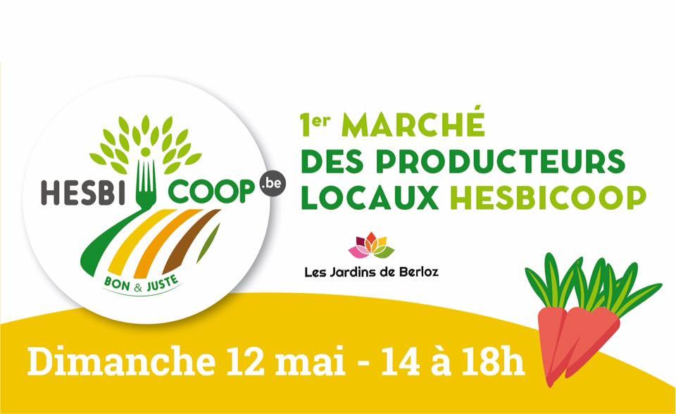 1er marché des producteurs locaux pour la coopérative Hesbicoop