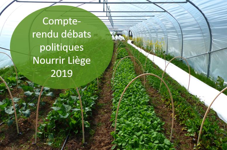 Comptes-Rendus des interventions politiques sur l'agriculture lors du festival Nourrir Liège 2019