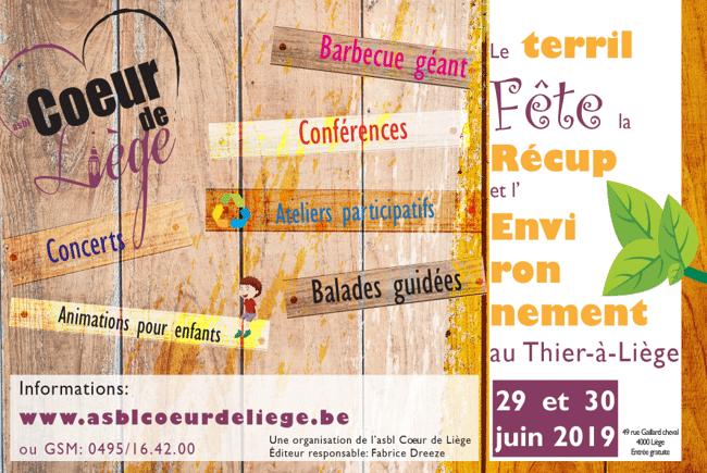 Fête de la Récup et de l'Environnement au Thiers à Liège: Conférences Alimentation locale et Saine