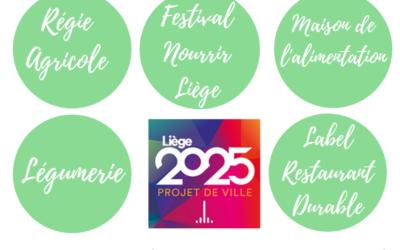 Les projets de Ville Liège 2025 en lien avec l'alimentation durable à soutenir