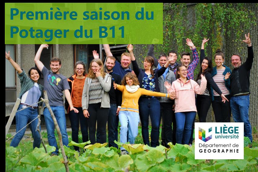 Première saison pour le potager du B11 de l'Université de Liège