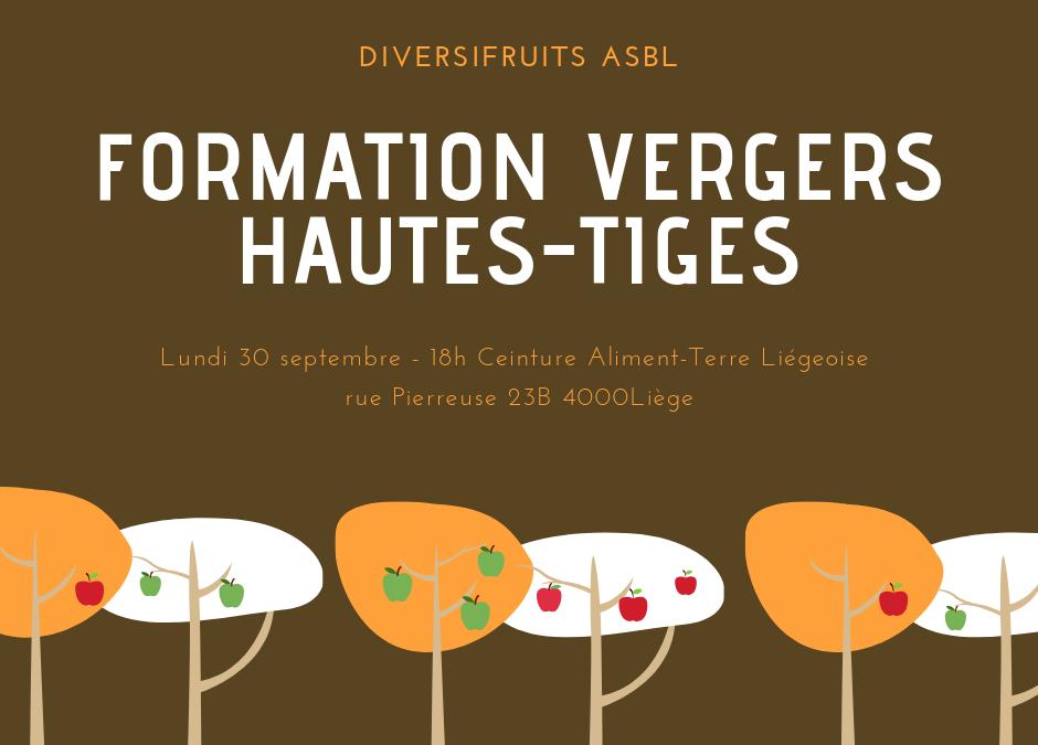 Formation Vergers Hautes-Tiges à Liège