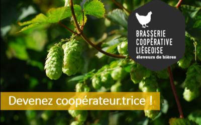 La Brasserie Coopérative liégeoise récolte son houblon: devenez coopérateur !