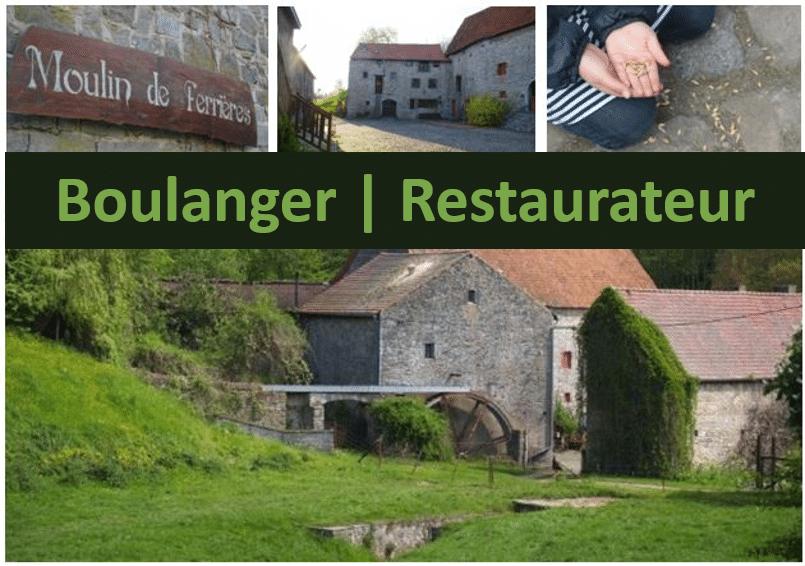 Vous souhaitez être le boulanger ou le restaurateur du Moulin de Ferrières ?