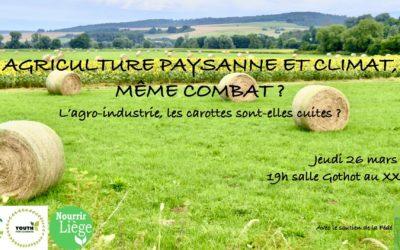 Conférence «Agriculture paysanne et climat, même combat?» 26/03