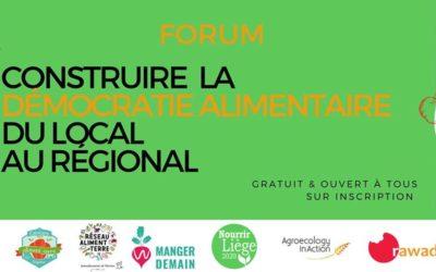 La CATL vous invite au Forum Nourrir Liège : construire la démocratie alimentaire