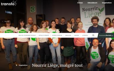 » Nourrir Liège, malgré tout » : un article du magazine de l'économie sociale Transfo