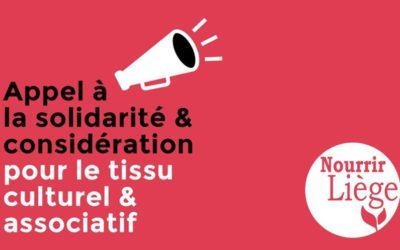 Le Festival Nourrir Liège fait partie des signataires de l'appel «Solidarité Culture Liège»