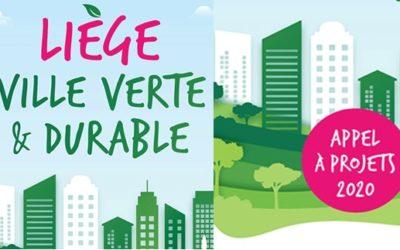 Appel à projets 2020 : Liège, ville verte et durable.