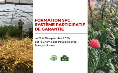 À vos agendas : formation SPG le 28 et 29 septembre 2020 sur le Champ des possibles !