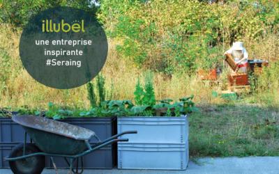 Un exemple pour les entreprises liégeoises : l'espace biodiversité alimentaire «Happy Culture» d'Illubel à Seraing