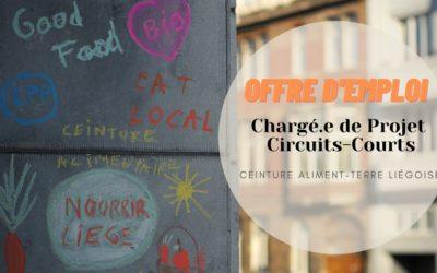 Job Alert ! La Ceinture Aliment-Terre Liégeoise recrute un.e Chargé.e de Projet Circuits-Courts