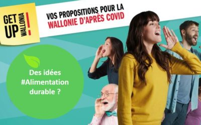 Participez à la consultation « Get Up Wallonia » avec des propositions « alimentation durable »