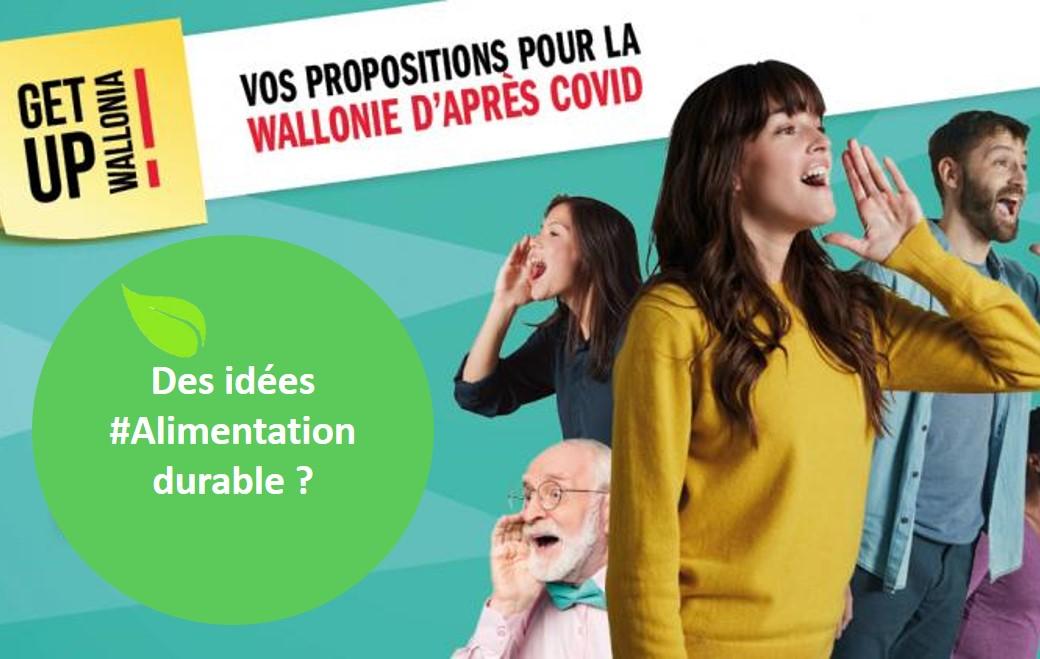 Participez à la consultation «Get Up Wallonia» avec des propositions «alimentation durable»