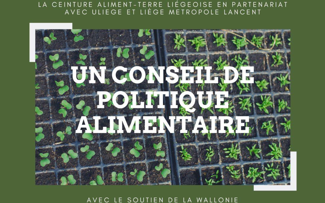 La CATL va lancer un Conseil de Politique Alimentaire  avec ULiège et Liège Métropole, soutenu par la Wallonie.
