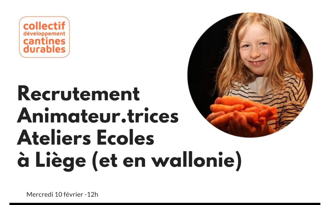 Animateur.trices pour ateliers cantines durables à Liège (et en Wallonie) : le CDCD recrute !