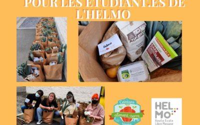 Distribution de paniers solidaires et locaux pour les étudiant.es de HELMo, en association avec la CATL