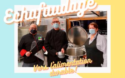 Echafaudage en route vers l'alimentation durable dans les écoles liégeoises !