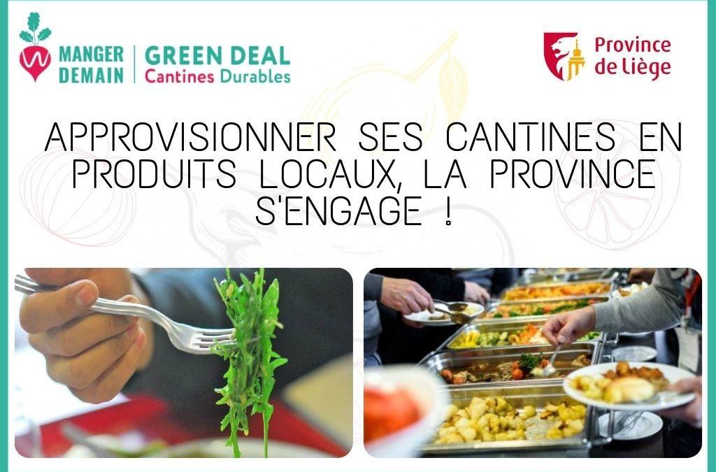 Des produits locaux et sains dans les cantines : la Province de Liège s'engage !