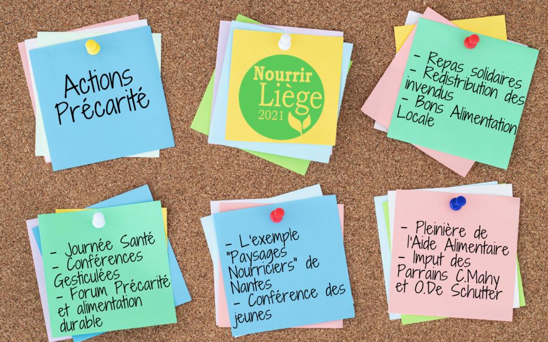 Retour sur 10 actions alimentation locale & précarité du Festival Nourrir Liège 2021 : pistes de solutions