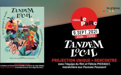 Projection du film itinérant liégeois sur la paysannerie en Belgique : Tandem Local le 9 (Liège) et le 16/9 (Visé)